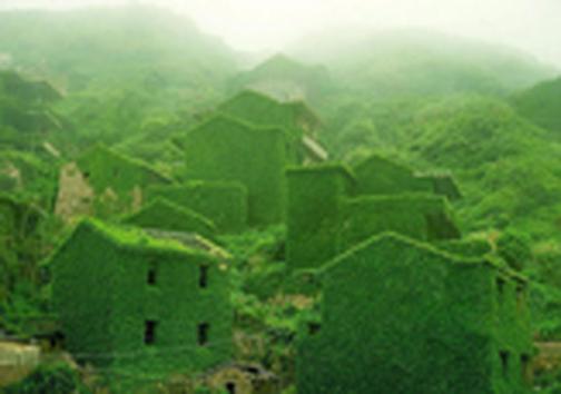 روستای که پس از ترک صاحبانش به باغ زیبا تبدیل شد