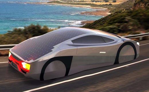 سریع ترین خودروی مسابقاتی خورشیدی+ تصاویر