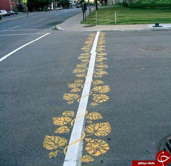3486359 532 خط کشی های خلاقانه در خیابان+ تصاویر