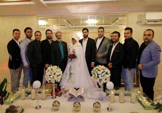 ازدواج زوج ماه عسلی با حضور برادر رئیس جمهور + تصاویر