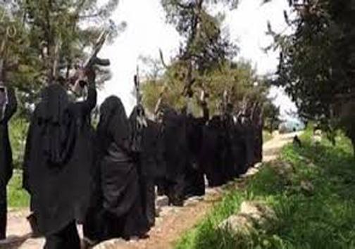 پادگان زنان انتحاری داعش در موصل +عکس