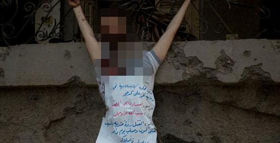 قربانی بدون سر داعش به صلیب کشیده شد (تصاویر+16)