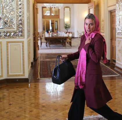 حضور موگرینی تنها به عنوان یک شهروند در ایران!