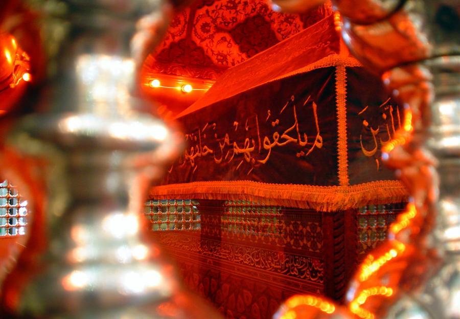 ضریح امام حسین (ع) از داخل+تصاویر