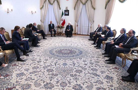روحانی: توافق هستهای باید همکاری بهتری را با اروپا رقم بزند/ دعوت رسمی اولاند از روحانی+ تصاویر