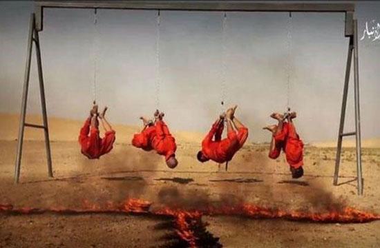 زنده سوزی به دست داعش/ فیلم مستهجن توسط عناصر داعش
