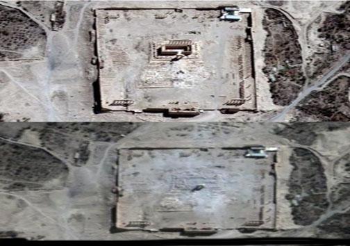 تصویر ماهواره ای از جنایت داعش +عکس