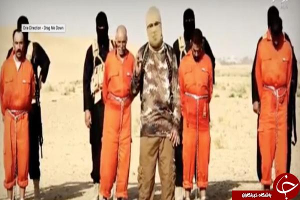 زنده سوزی 4 نفر توسط داعش +فیلم (+18)