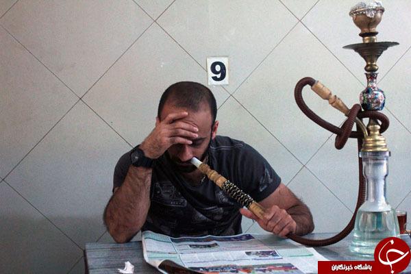 زور بازو با تنباکوی دوسیب آلبالو ! +تصاویر
