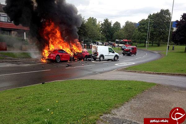 خسارت چند صد میلیونی در تصادف شدید +تصاویر