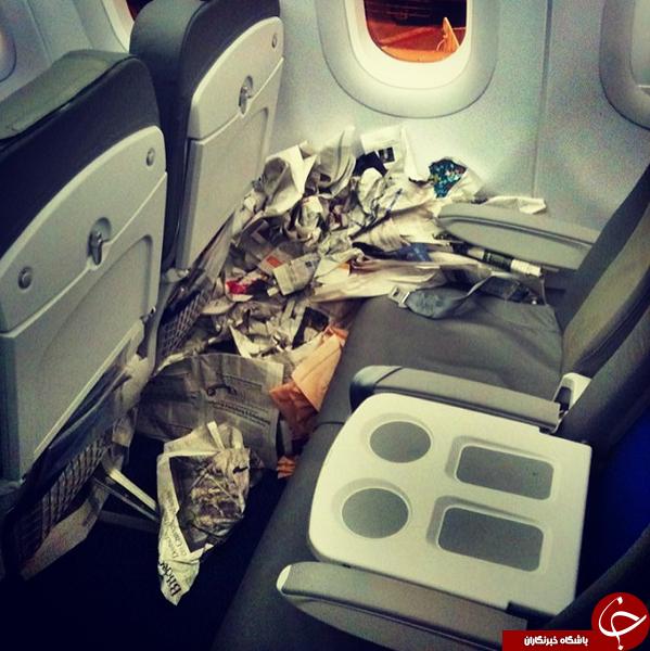 حرکت های زشت مسافران در هواپیما +تصاویر