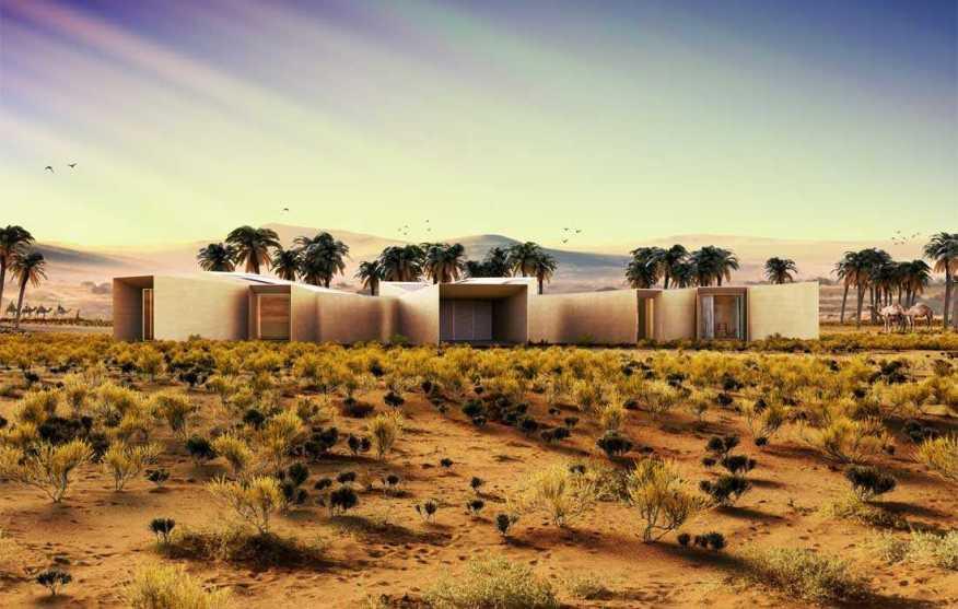 خانه برفی در بیابان + تصاویر