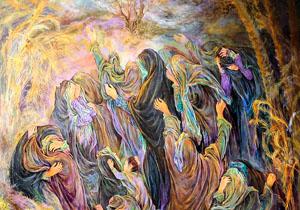 ظریف:آثار فرشچیان هدیه من به کسی که لاف قدرت میزد/ فرشچیان: زبان من زبان هنر است