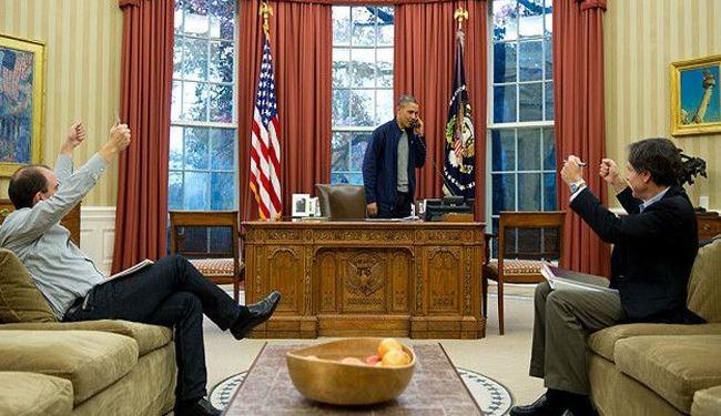 شادی اوباما از رأی مجلس سنا+ عکس