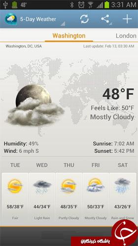 ویجت هواشناسی و ساعت + دانلود