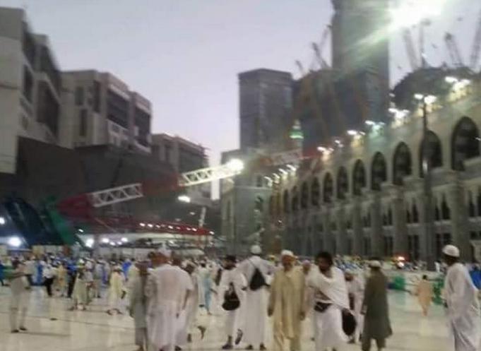دست کم 107 قربانی در حادثه سقوط جرثقیل در مسجد الحرام