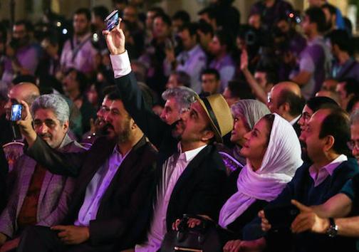 سلفی رضا عطاران و مریلا زارعی در جشن سینمای ایران