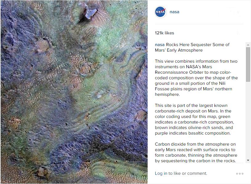 مریخ رنگین کمانی! + عکس