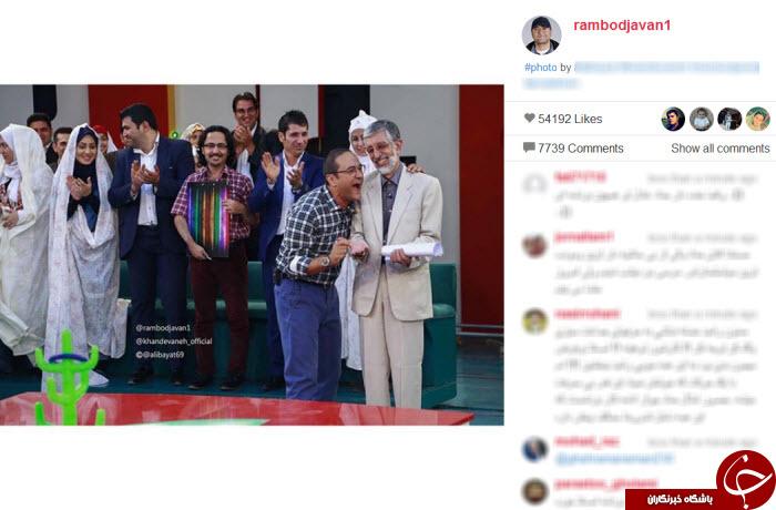 پرتاب حلقه حداد عادل در خندوانه+ عکس