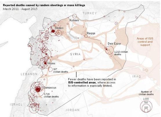 نمایی دیده نشده از تمام کشتهشدگان سوریه+ تصاویر