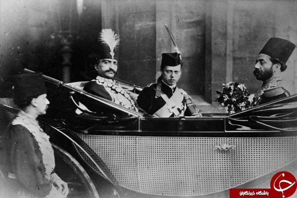 ناصرالدین شاه و پسر ملکه ویکتوریا در کالسکه +عکس