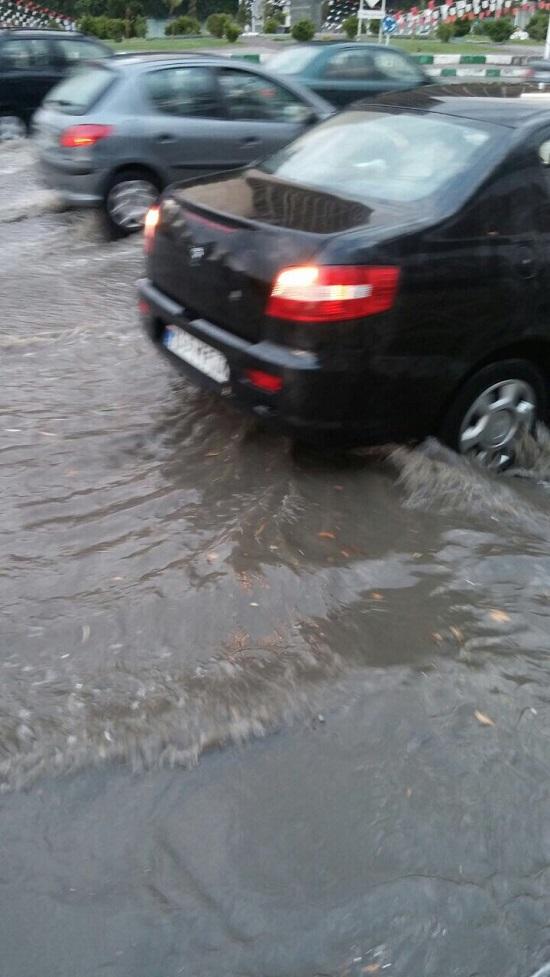 بارش شدید باران در تهران به روایت تصویر