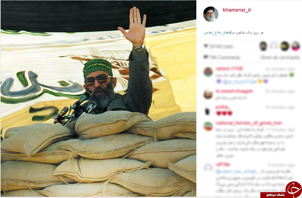 8 سال دفاع مقدس با 8 عکس در اینستاگرام رهبری