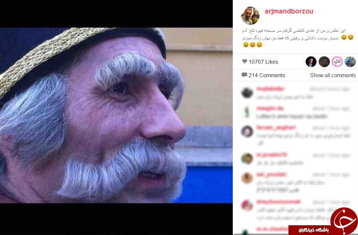 گلایه برزو ارجمند از  رفیق بازیگرش+ عکس