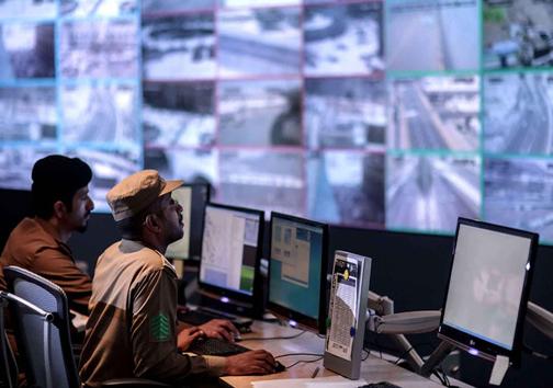 عکس/ مرکز کنترل دوربین های امنیتی مسجد الحرام