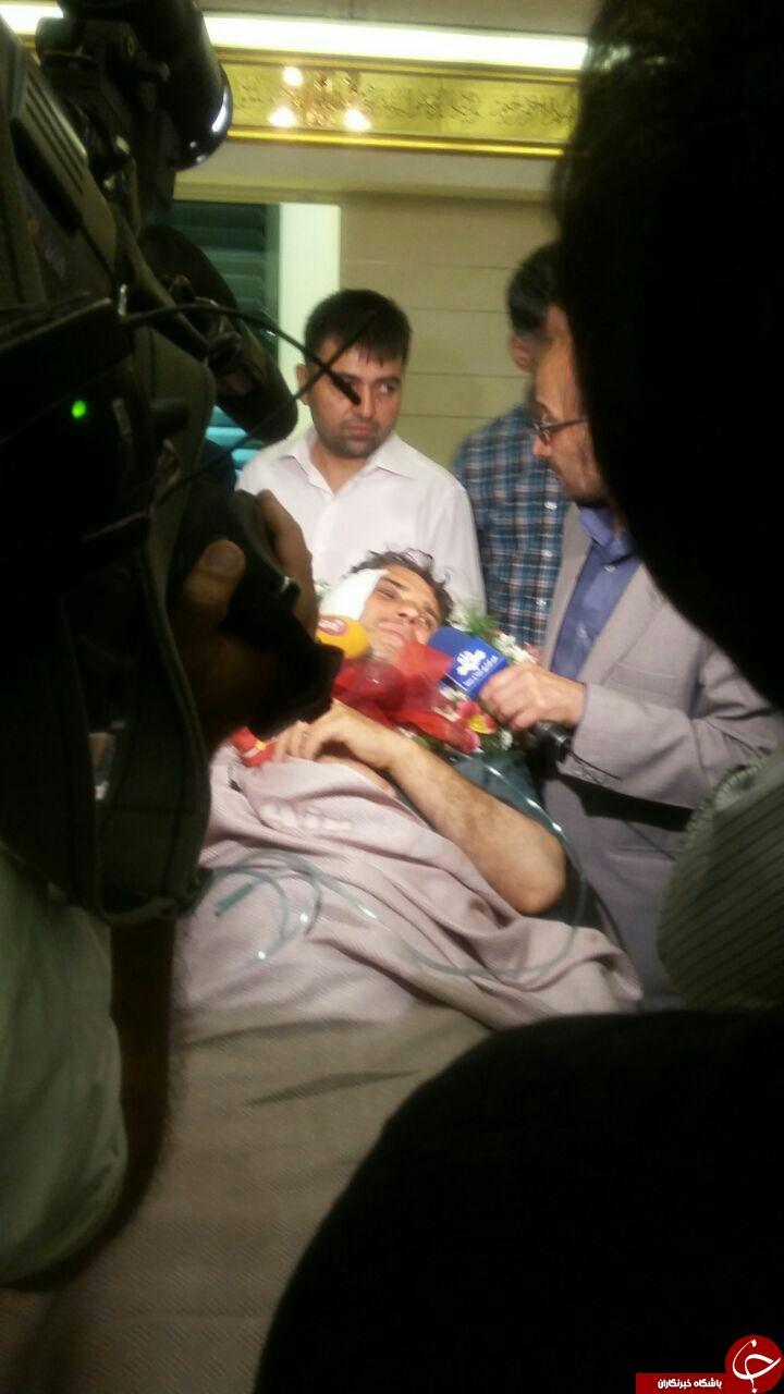 انتقال خبرنگار صدا و سیما از سوریه به تهران+عکس