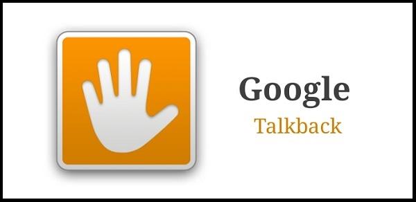 دانلود نرم افزار google talk back برای اندروید