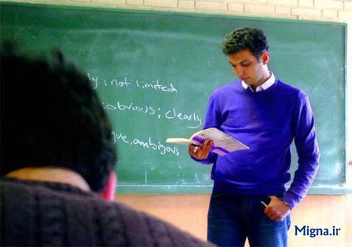 عادل فردوسی پور در حال تدریس (به مناسبت اول مهر)