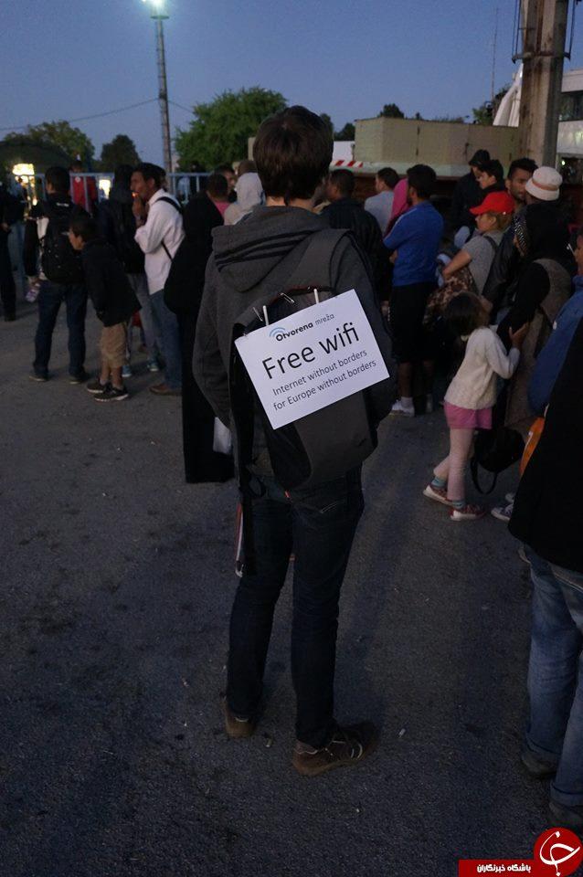 اینترنت رایگان برای پناهجویان اروپا (عکس)