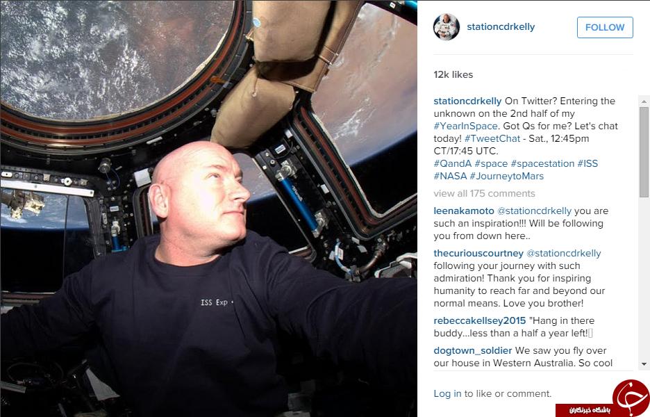 شب و روز از دوربین مردی که یکسال در فضاست + تصاویر