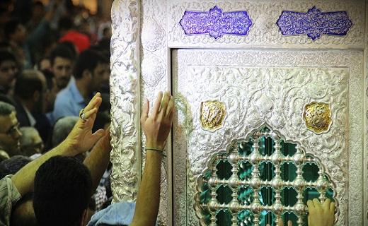 رونمایی از دو نیم ضریح خیمه گاه حضرت عباس