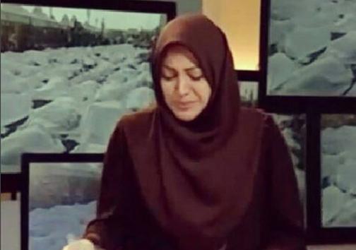 عکس العمل یک مجری به گریه همسرش در تلویزیون + عکس