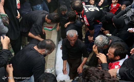 گزارش تصویری از مراسم تدفین هادی نوروزی در بابل