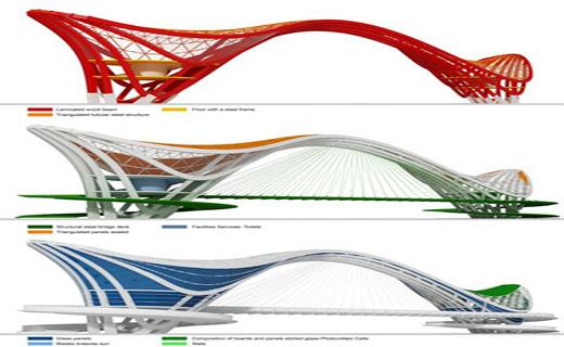 ابداعی جالب در طراحی یک پل چند منظوره + تصاویر