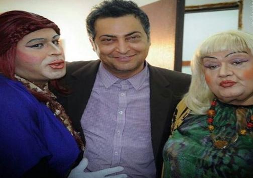 عکس/ اکبرعبدی در نقش یک زن بدحجاب