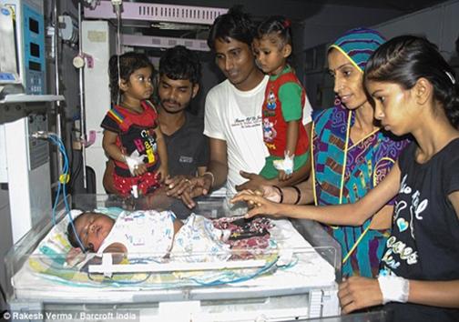 سنگینترین نوزاد هندی + تصاویر