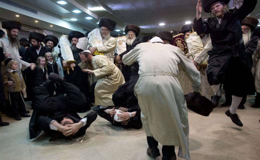 عجیبترین رقص یهود + تصاویر