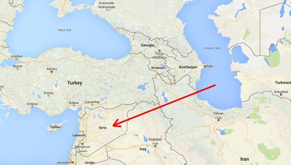 حمله موشکی به مواضع داعش از دریای خزر