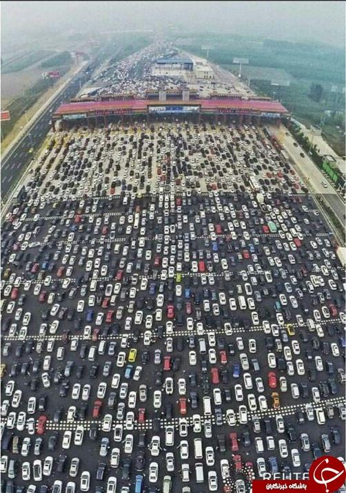 ترافیک وحشتناک در چین + عکس