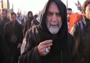 فیلم اشک های سردار همدانی در راهپیمایی اربعین