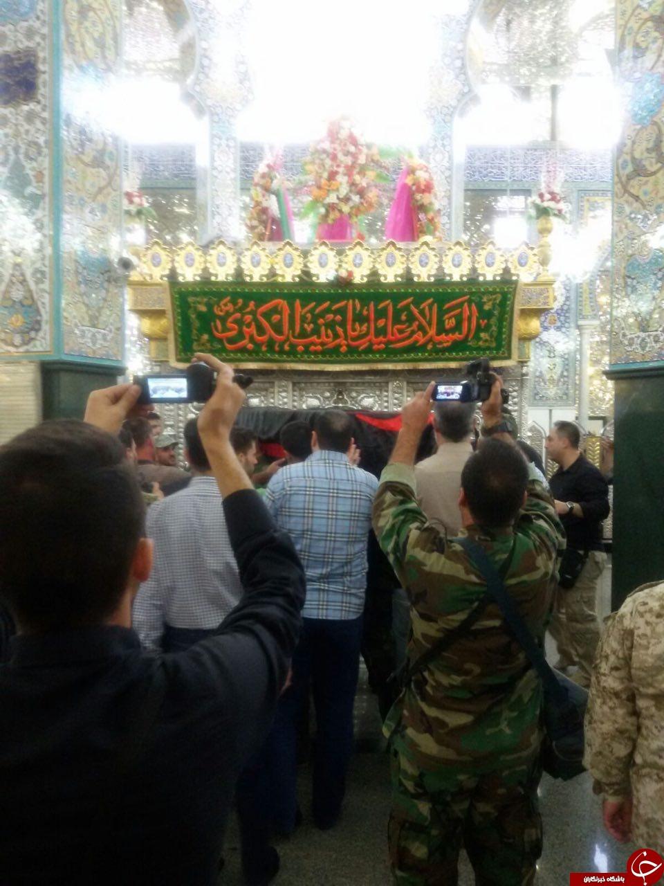 طواف پیکر سردار در حرمی گه عمری پاسدارش بود + عکس