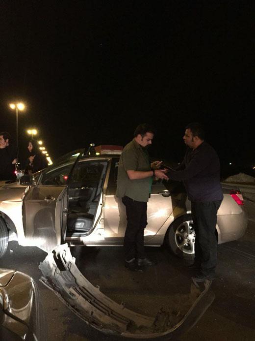 تصادف گروه ناظری در جاده/ شهرام ناظری در سلامتی کامل به سر میبرد