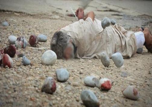 سنگسار پیرمرد عراقی بدست داعش+تصاویر