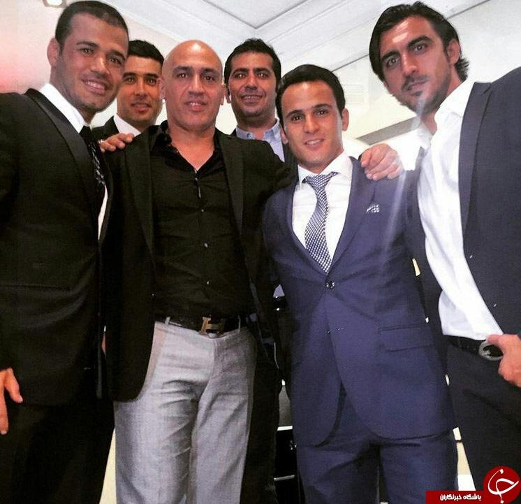 فوتبالیست ها در مراسم عروسی سام درخشانی+ عکس