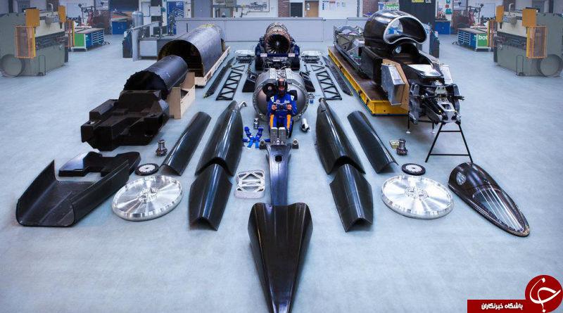 خودرویی با سرعت 1600 کیلومتر در ساعت +تصاویر