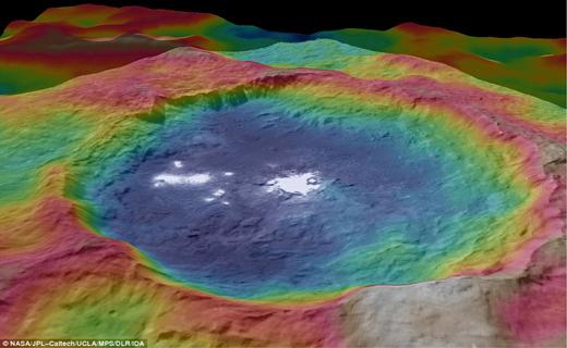هفت رنگی زیبا در سیاره سرس+ عکس